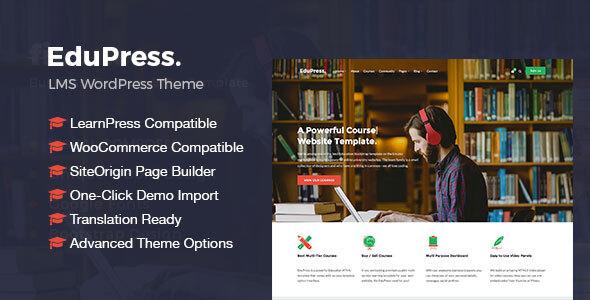 EduPress | Responsive LMS, University Education WordPress Theme