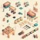 Business in Refinery Mini Plant Isometric 3d. - GraphicRiver Item for Sale