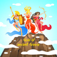 Greek Mythology is Written Gods of Ancient Greece. - GraphicRiver Item for Sale