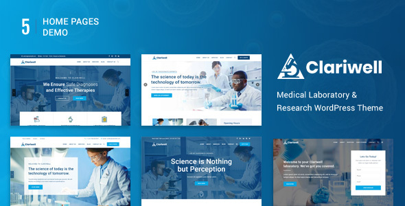 Clariwell – Medical Laboratory & Research WordPress Theme