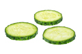 Fresh cucumber slices isolated - PhotoDune Item for Sale