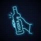 Hand Holds Vodka Bottle Glass Neon Sign - GraphicRiver Item for Sale