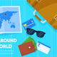 Map and Tourist Accessories Passport Ticket Wallet - GraphicRiver Item for Sale