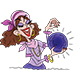 Cartoon Fortune Teller Holding a Crystal Ball - GraphicRiver Item for Sale