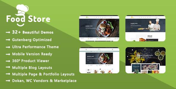 Food Store | Organic & Restaurant WooCommerce WordPress Theme