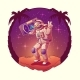 Astronaut or Spacemen Dancing on Moon Disco Party - GraphicRiver Item for Sale