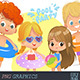 Pool Party Kids Set2 - GraphicRiver Item for Sale