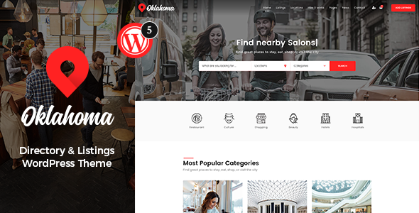Oklahoma - Directory & Listings WordPress Theme