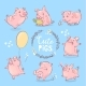 Pink Pigs Set - GraphicRiver Item for Sale