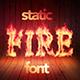 Fire Font / Alphabet -Static Version - GraphicRiver Item for Sale