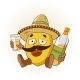 Cartoon Lemon Drinking Tequila - GraphicRiver Item for Sale
