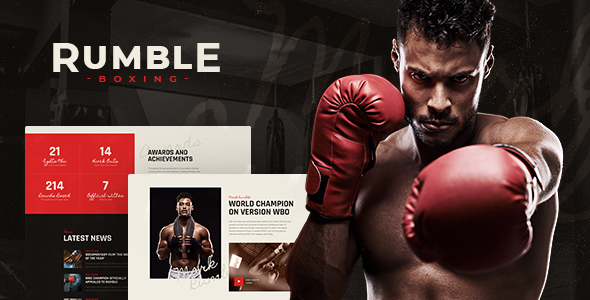 Rumble | Boxing & Mixed Martial Arts Fighting WordPress Theme