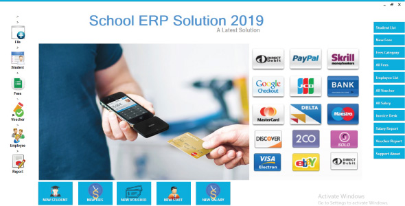 School ERP Solution Full School Management System 2019 C#