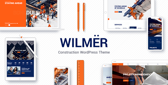 Download Wilmër - Construction WordPress Theme Nulled