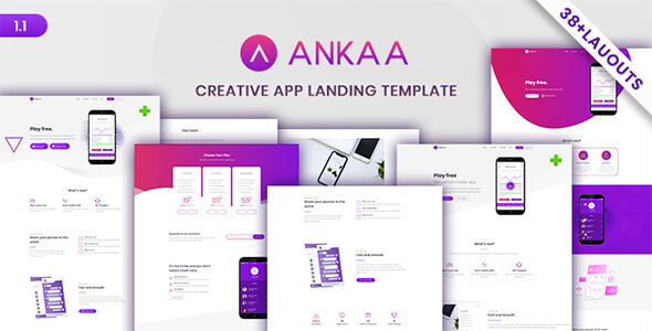 ANKAA - App Landing Page