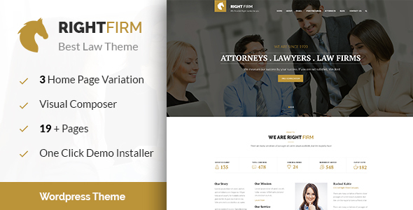 Right Firm- Law Firm WordPress Theme