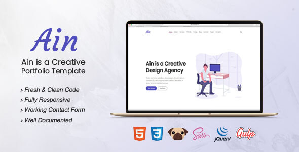 Ain - Portfolio HTML5 Template
