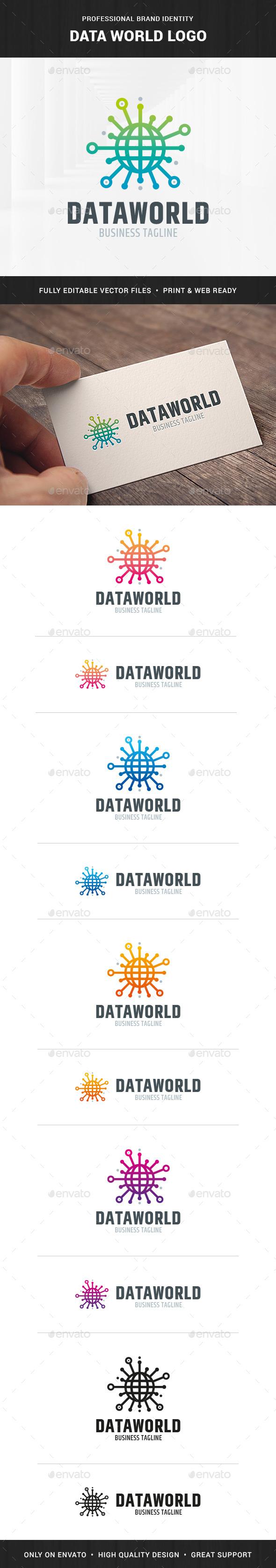 Data World Logo Template
