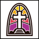 Church Modern Glass Logo - GraphicRiver Item for Sale