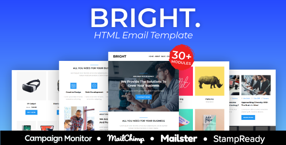 BRIGHT – Multipurpose Responsive Agency Email Template