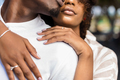 Close up outdoor protrait of black african american couple embra - PhotoDune Item for Sale