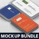 Business Card Mockup Bundle Stack Round Corners - GraphicRiver Item for Sale