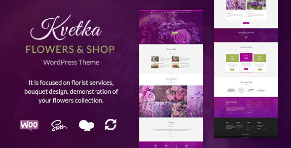 Kvetka - Flowers & Shop WordPress Theme