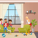 Angry Young Father Look After Naughty Children - GraphicRiver Item for Sale