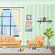 Children Scattered Toys in Messy Empty Living Room - GraphicRiver Item for Sale