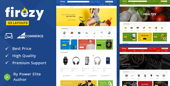 Firezy - Multipurpose Stencil BigCommerce Theme
