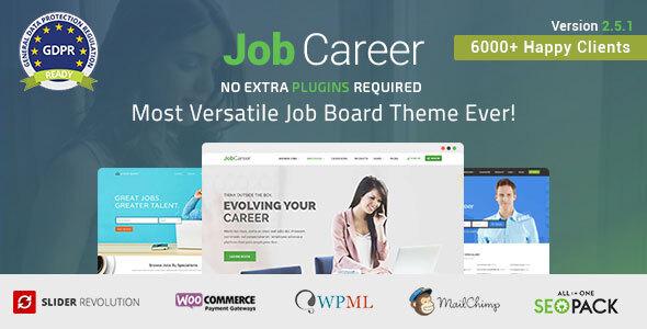 JobCareer | Job Board Responsive WordPress Theme