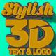 3D Text Logo Mockup - GraphicRiver Item for Sale