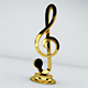 Note Clef 3D model - 3DOcean Item for Sale