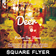 As The Deer - Square Flyer - GraphicRiver Item for Sale