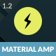 AMP Material Mobile - ThemeForest Item for Sale
