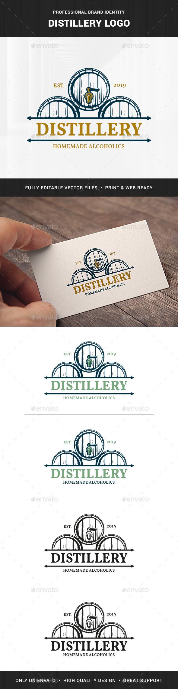 Distillery Logo Template