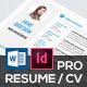 Pro Resume CV - GraphicRiver Item for Sale