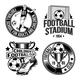 Set of Football Emblems - GraphicRiver Item for Sale