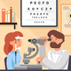 Vector Flat Illustration Visit to Ophtalmologist. - GraphicRiver Item for Sale