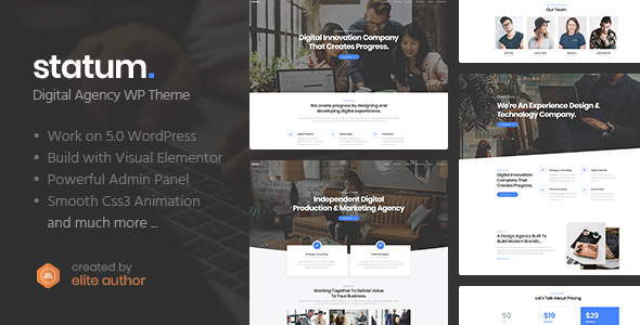 Statum - Business & Agency WordPress Theme