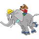 Cartoon Elephant Character Skating Together With His Dog Friend - GraphicRiver Item for Sale