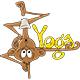 Cartoon Monkey Doing Yoga Vector Illustration - GraphicRiver Item for Sale