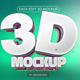 3D Text/ Logo Mockup - GraphicRiver Item for Sale