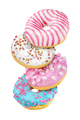 Group of donuts isolated on white - PhotoDune Item for Sale
