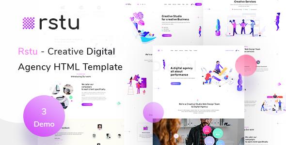 Rstu - Digital Agency HTML Template