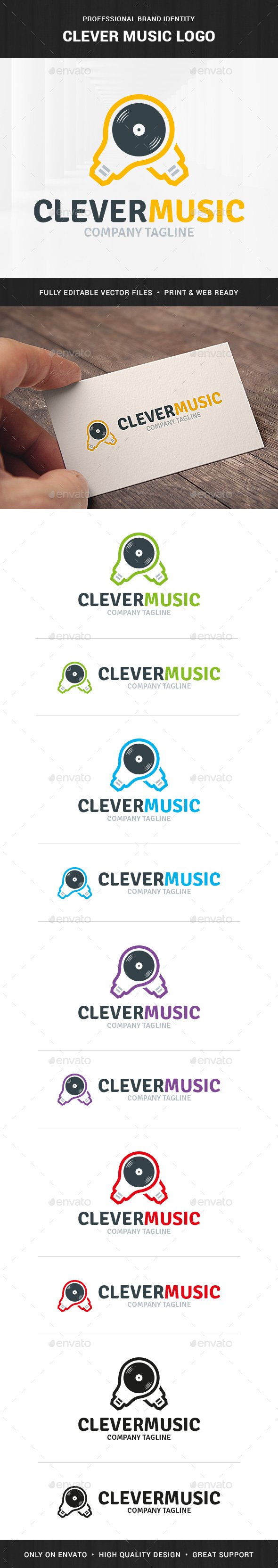 Clever Music Logo Template