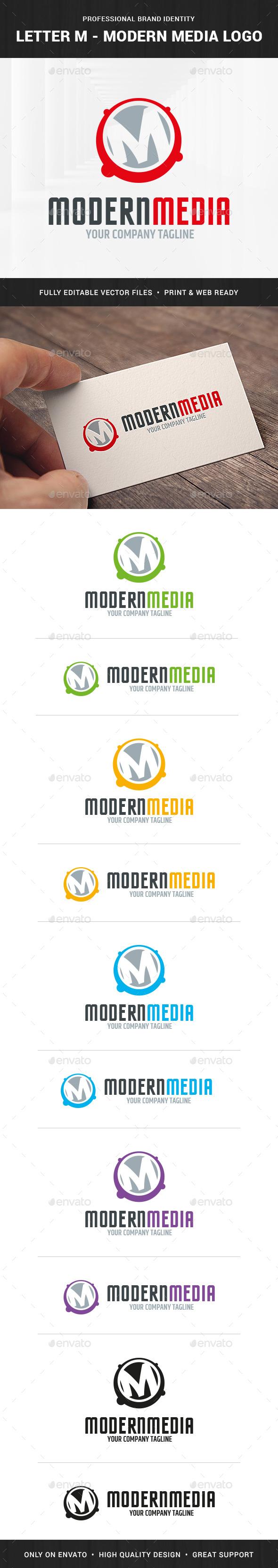 Letter M - Modern Media Logo