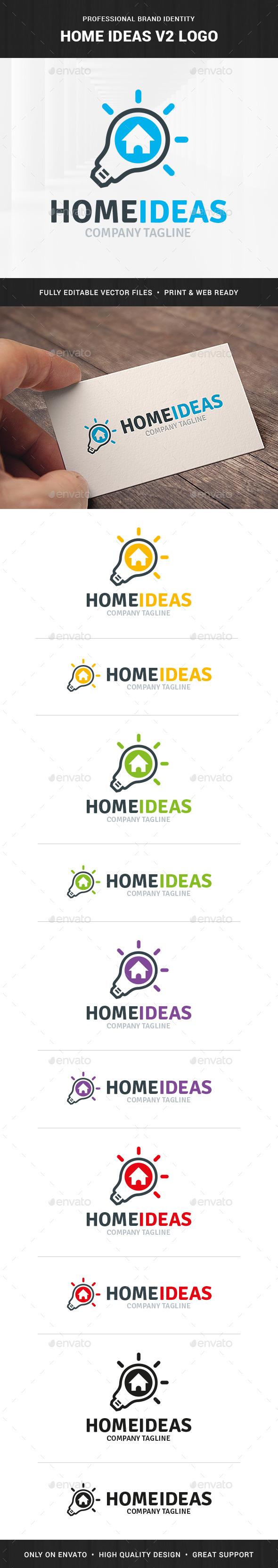 Home Ideas V2 Logo Template