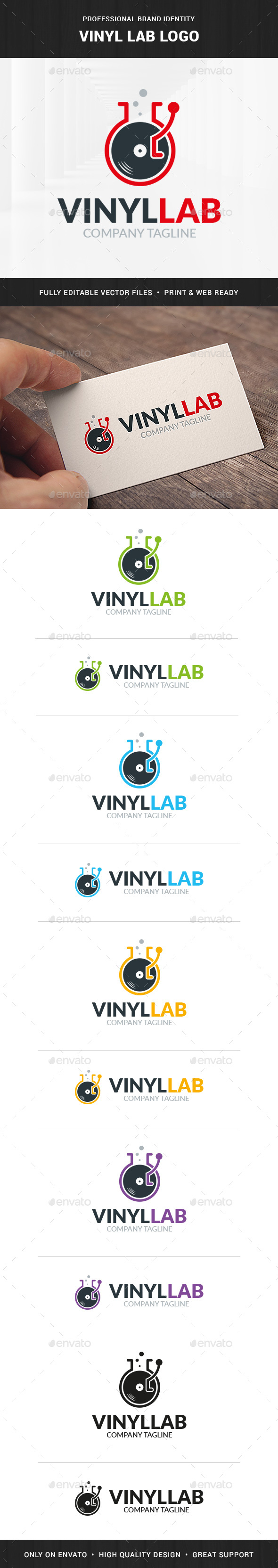 Vinyl Lab Logo Template