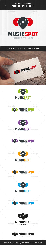 Music Spot Logo Template